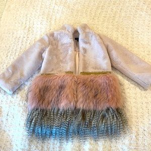 Like New Imoga Faux Fur Toddler Girls Jacket
